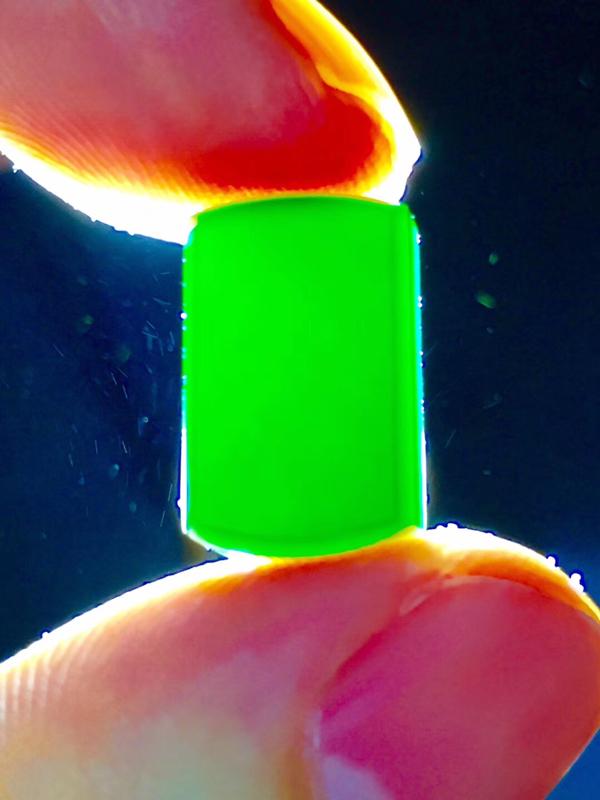 墨翠:【精品-马鞍】完美无裂纹,细腻干净,黑度极黑,性价比高,雕工精湛,打灯透绿