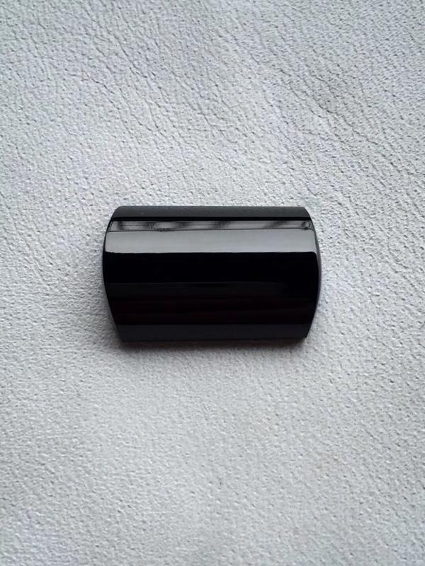 【墨翠【精品-马鞍】完美无裂纹,细腻干净,黑度极黑,性价比高,雕工精湛,打灯透绿】图6