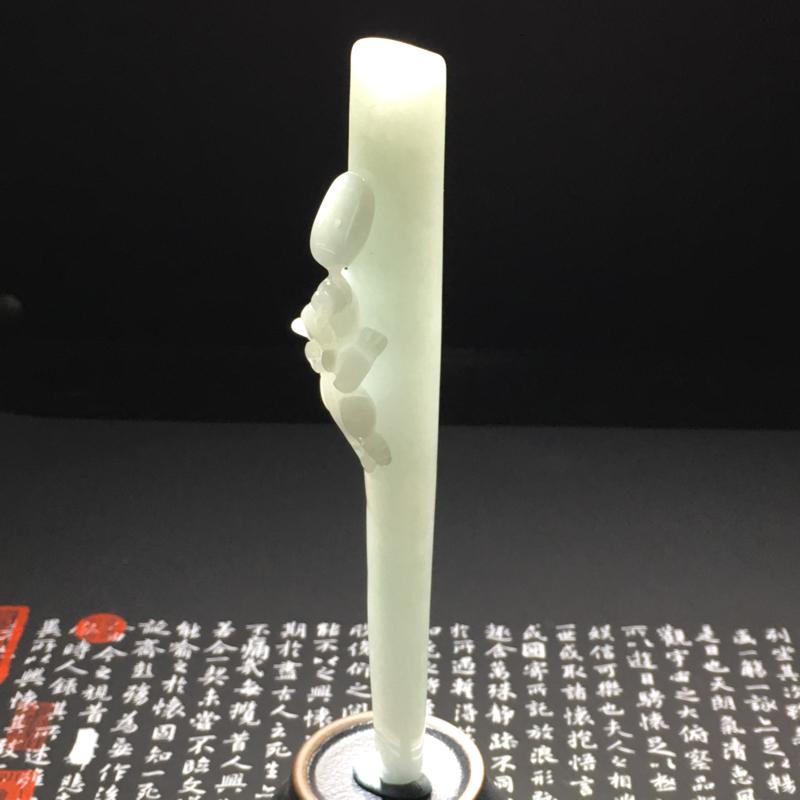 【糯种招财貔貅烟嘴 尺寸134-13.8-24.3毫米 质地细腻 雕工精湛】图9