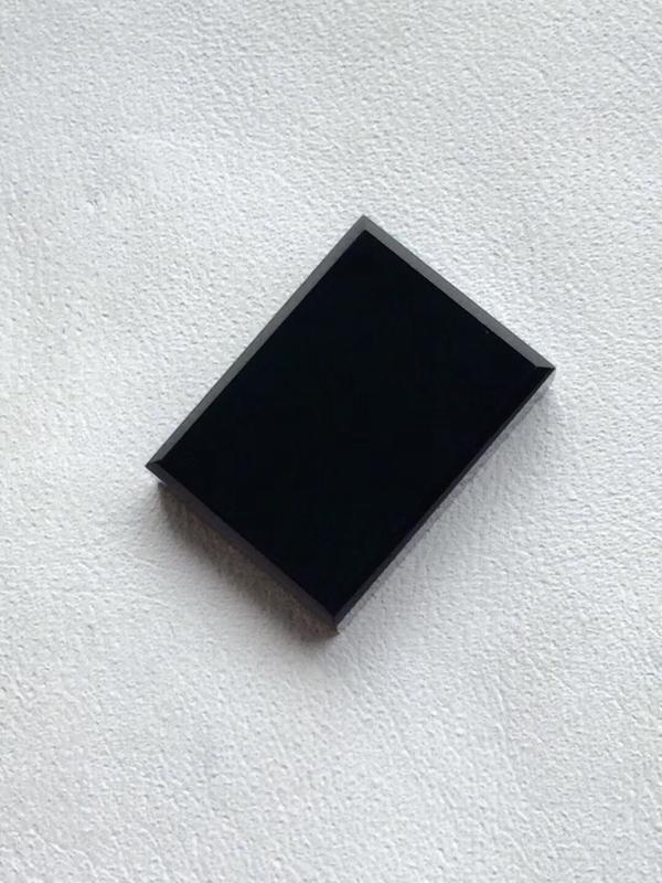 【墨翠 【精品-戒面】完美无裂纹,细腻干净,黑度极黑,性价比高,雕工精湛,打灯透绿】图5