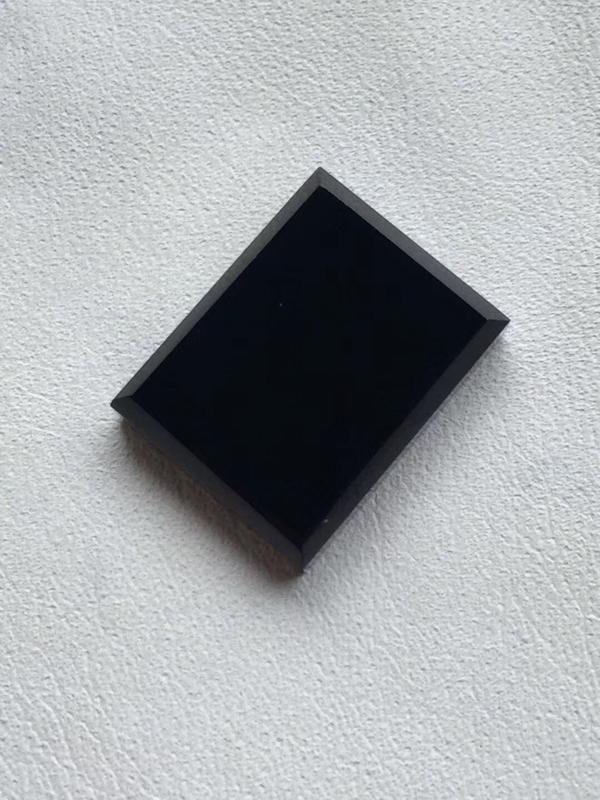 【墨翠【精品-戒面】完美无裂纹,细腻干净,黑度极黑,性价比高,雕工精湛,打灯透绿】图5