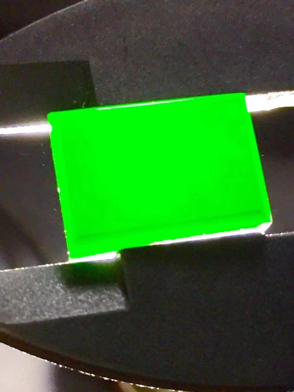 【墨翠 【精品-戒面】完美无裂纹,细腻干净,黑度极黑,性价比高,雕工精湛,打灯透绿】图2
