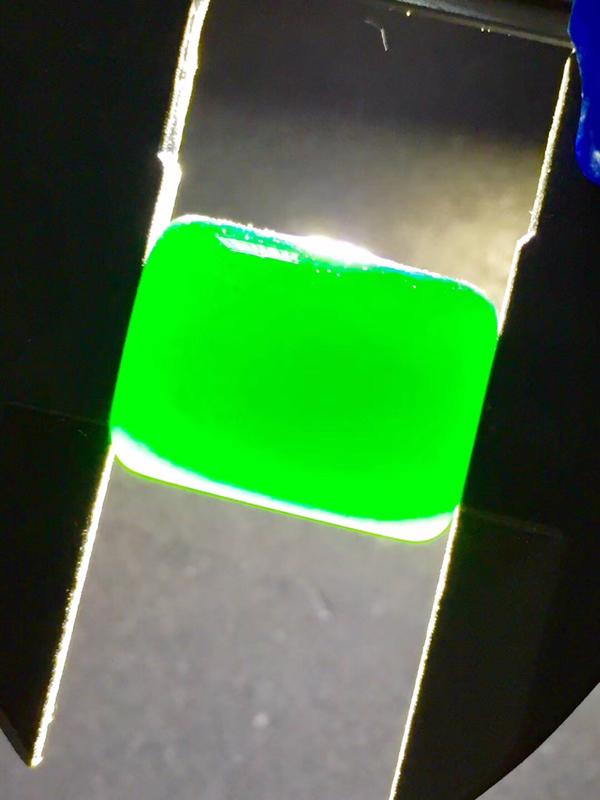 【墨翠【精品-马鞍】完美无裂纹,细腻干净,黑度极黑,性价比高,雕工精湛,打灯透绿】图2