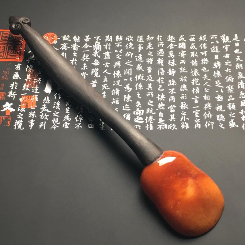 【红翡茶匙摆件 裸石尺寸54-38.7-13毫米 总长度207毫米 色彩艳丽 款式新颖】图4