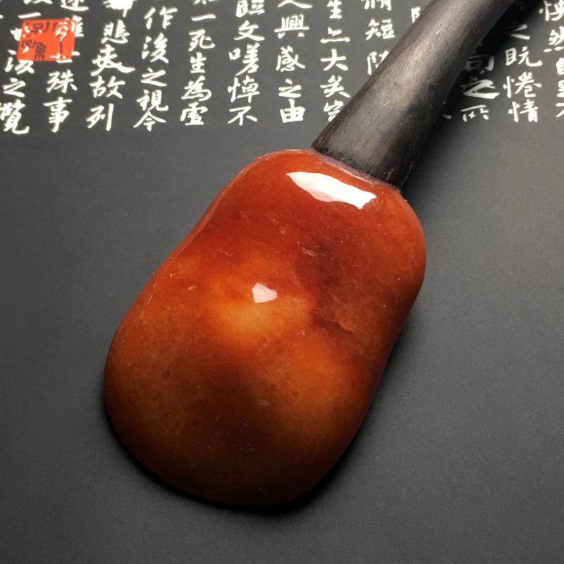 【红翡茶匙摆件 裸石尺寸54-38.7-13毫米 总长度207毫米 色彩艳丽 款式新颖】图5