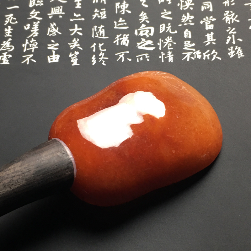 【红翡茶匙摆件 裸石尺寸54-38.7-13毫米 总长度207毫米 色彩艳丽 款式新颖】图9