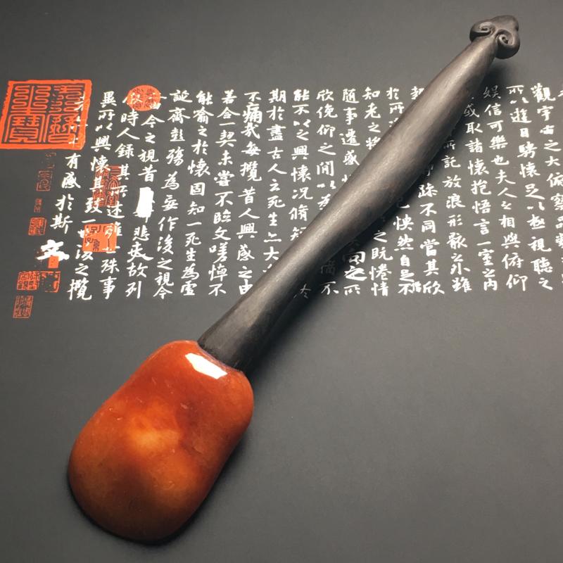 【红翡茶匙摆件 裸石尺寸54-38.7-13毫米 总长度207毫米 色彩艳丽 款式新颖】图3