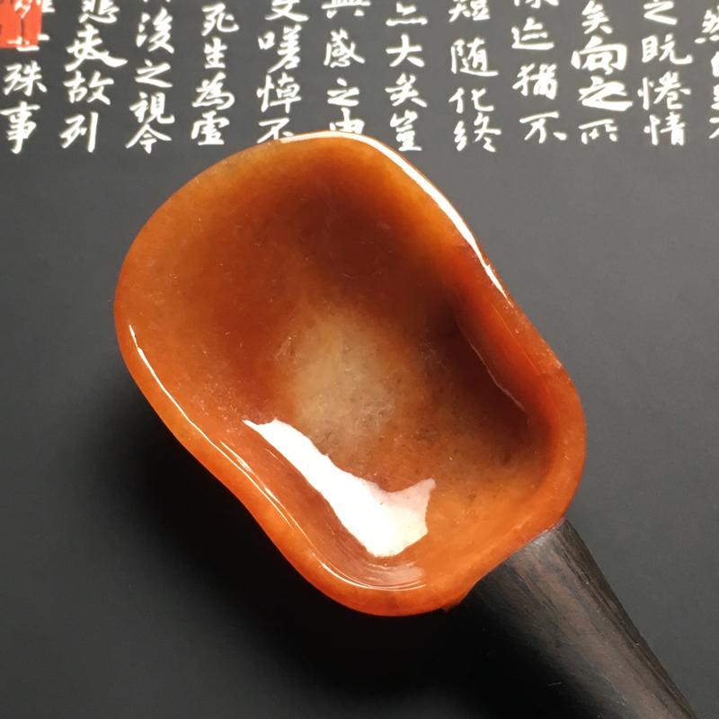 【红翡茶匙摆件 裸石尺寸54-38.7-13毫米 总长度207毫米 色彩艳丽 款式新颖】图7