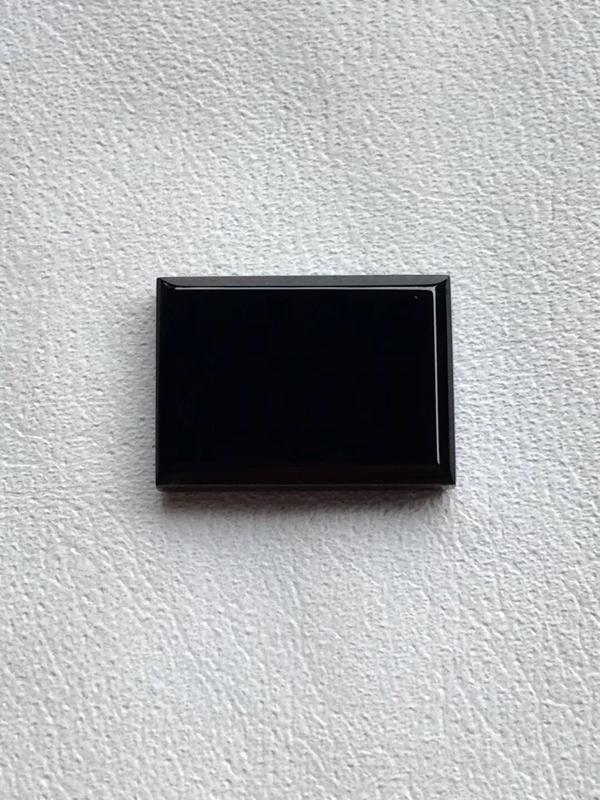 【墨翠【戒面】完美无裂纹,细腻干净,黑度极黑,性价比高,雕工精湛,打灯透绿】图6