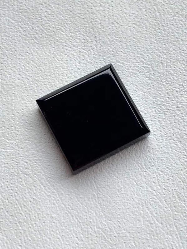 【墨翠 【戒面】完美无裂纹,细腻干净,黑度极黑,性价比高,雕工精湛,打灯透绿】图4
