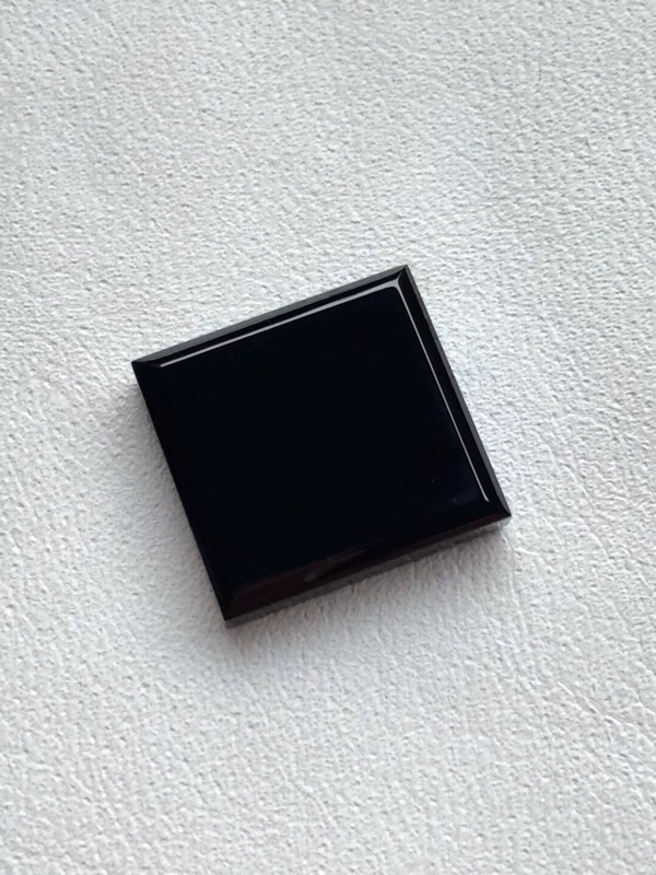 【墨翠 【戒面】完美无裂纹,细腻干净,黑度极黑,性价比高,雕工精湛,打灯透绿】图5