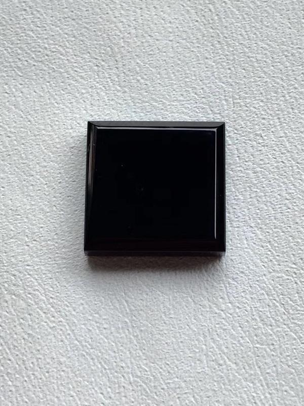 【墨翠 【戒面】完美无裂纹,细腻干净,黑度极黑,性价比高,雕工精湛,打灯透绿】图6