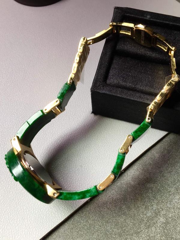 【花青满绿手表。完美。水头足。尺寸31.3/6】图7