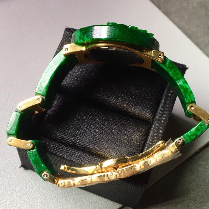 【花青满绿手表。完美。水头足。尺寸31.3/6】图6