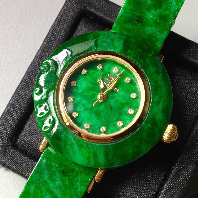 【花青满绿手表。完美。水头足。尺寸31.3/6】图4