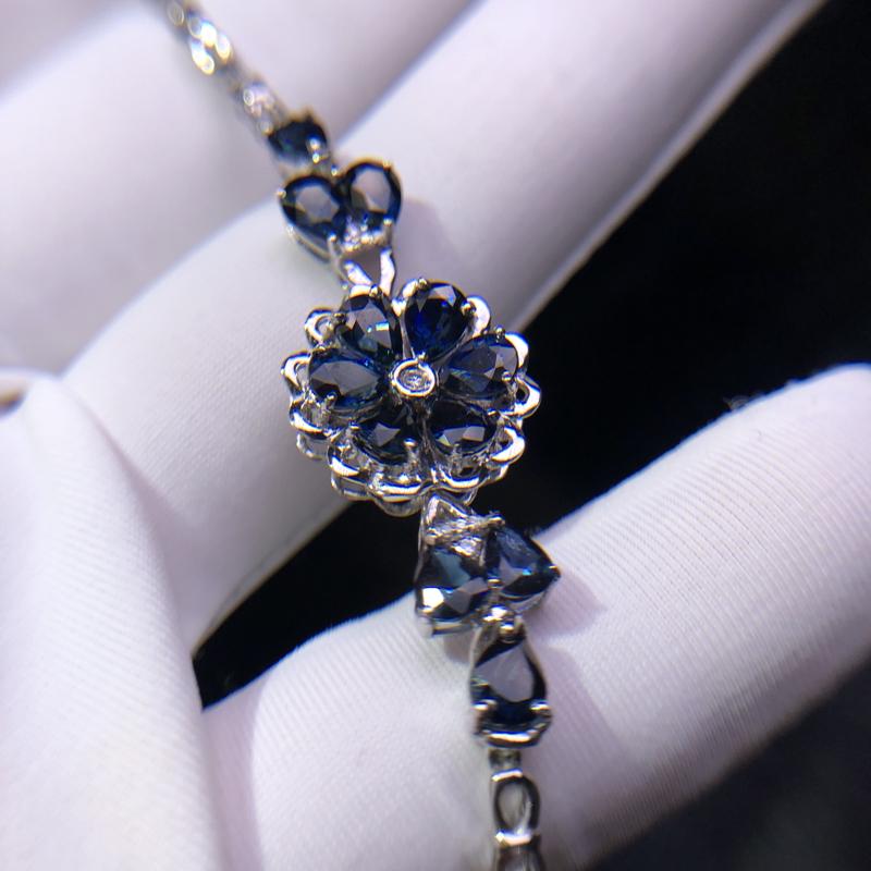 18K金蓝宝石手链