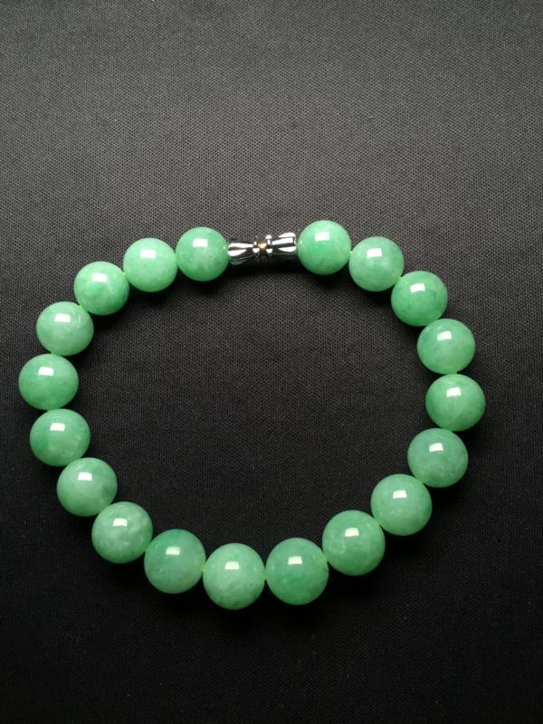 翡翠A货,满绿手链,完美,种好水足,性价比高。