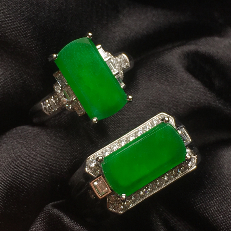 天然翡翠A货,情侣款马鞍戒指,种色一流,厚装大气,款式精美时尚,性价比高,可拆