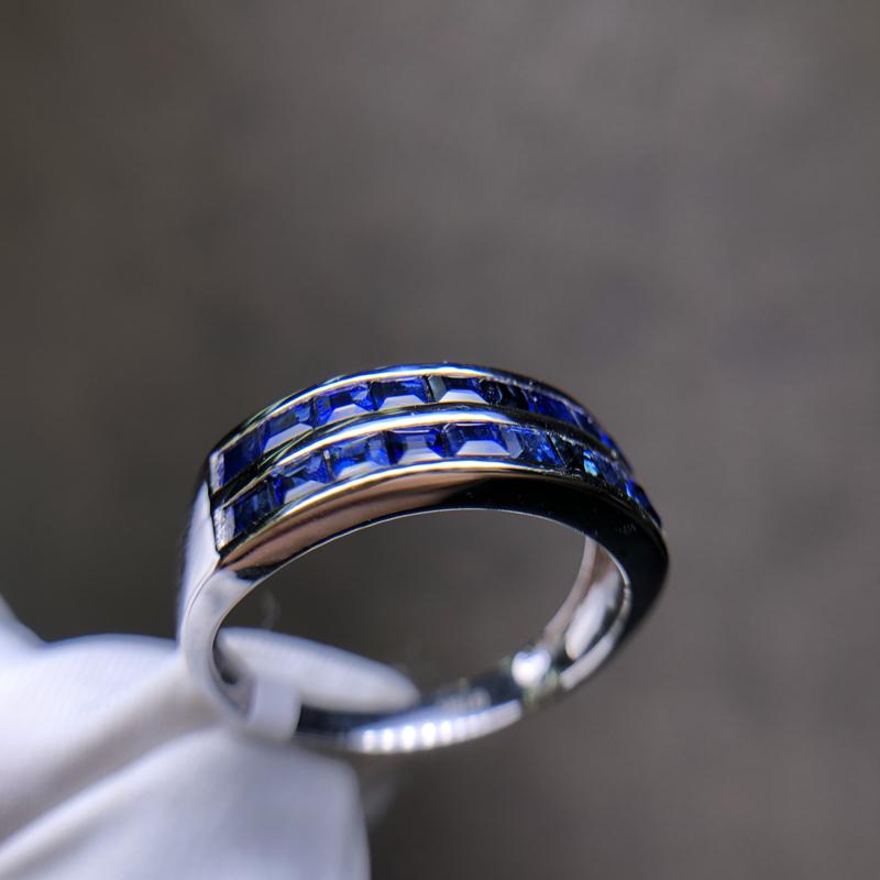 【原价6500元】18k金蓝宝石戒指
