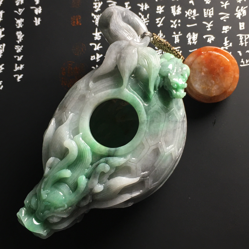 【❤️【糯种双彩龙龟茶壶摆件】尺寸95-56-45毫米 色彩鲜明 雕工精湛】图6