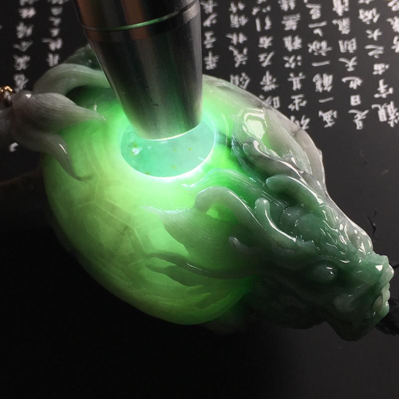 【❤️【糯种双彩龙龟茶壶摆件】尺寸95-56-45毫米 色彩鲜明 雕工精湛】图10