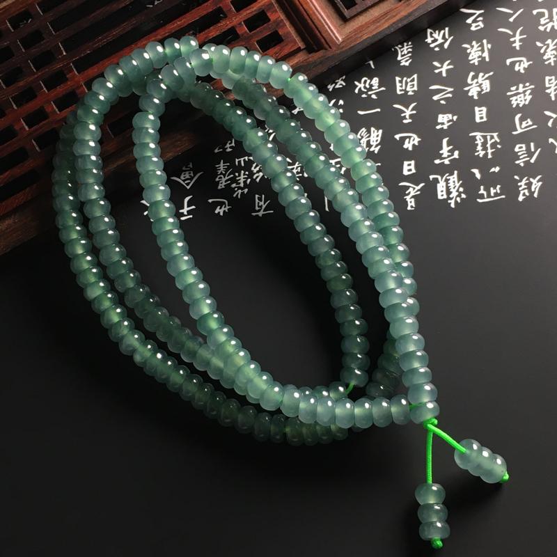 ️【冰种蓝水盘珠项链】色泽浓郁