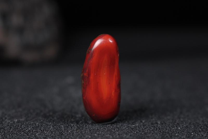 【【南极仙翁】鸡血锦红包浆立体雕刻南极仙翁,在雕刻老师的手下人物刻画生动形象传神,寓意深长:福寿安康延年益寿,整体无胶无裂无杂。】图5