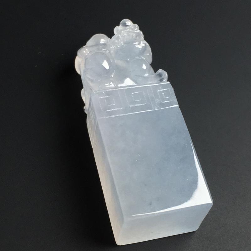 【【招财貔貅印章】冰透水润  雕工精湛  款式精美  尺寸39-15-11毫米】图2
