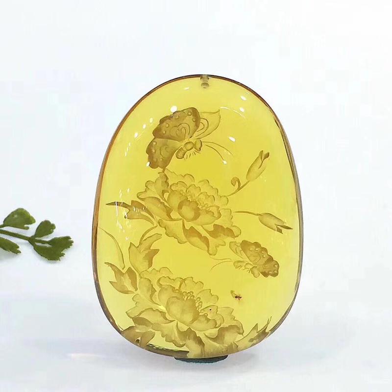 时光的精灵🧚♀️,天然精品 墨西哥·虫珀雕刻件 历经亿万年的沉淀,洗礼 虫体为飞蚁 肢体完美,雕刻