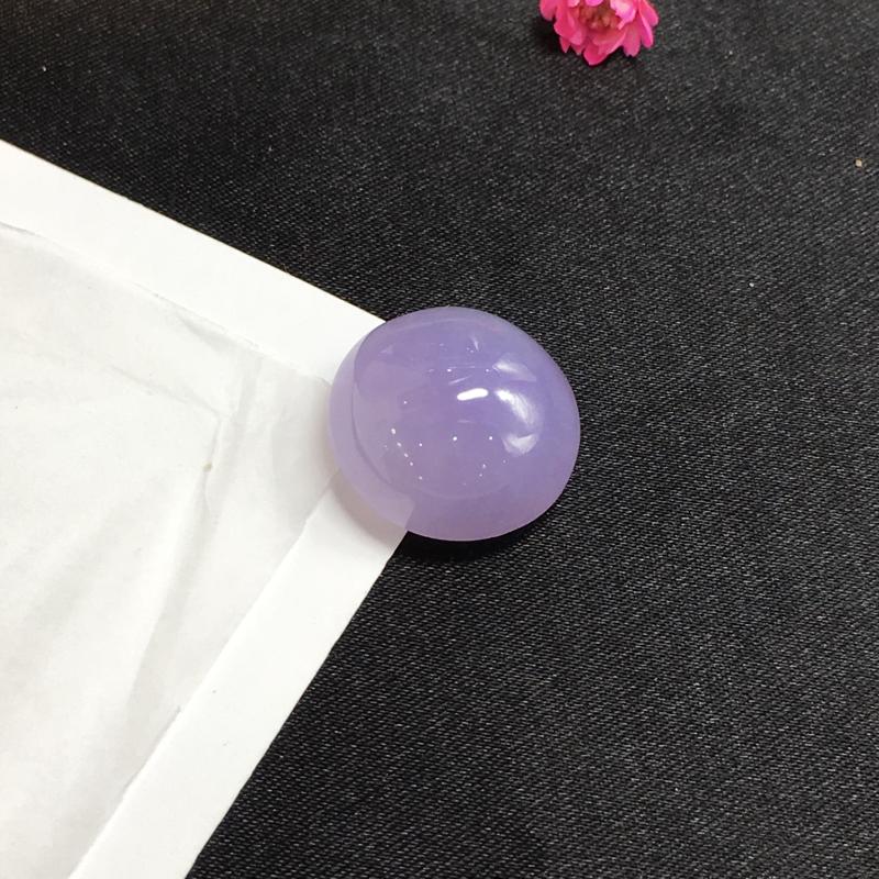【紫罗兰戒面,紫气东来,饱满细腻,镶嵌后效果更显档次,有微纹可忽略,性价比高,推荐,尺寸16.3*16*9mm,重量3.72g】图4