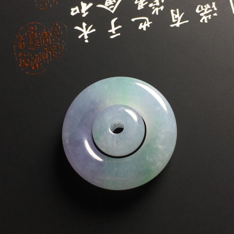 ❤️【糯化种春彩子母扣吊坠】尺寸27-7毫米 玉质水润 色彩鲜艳