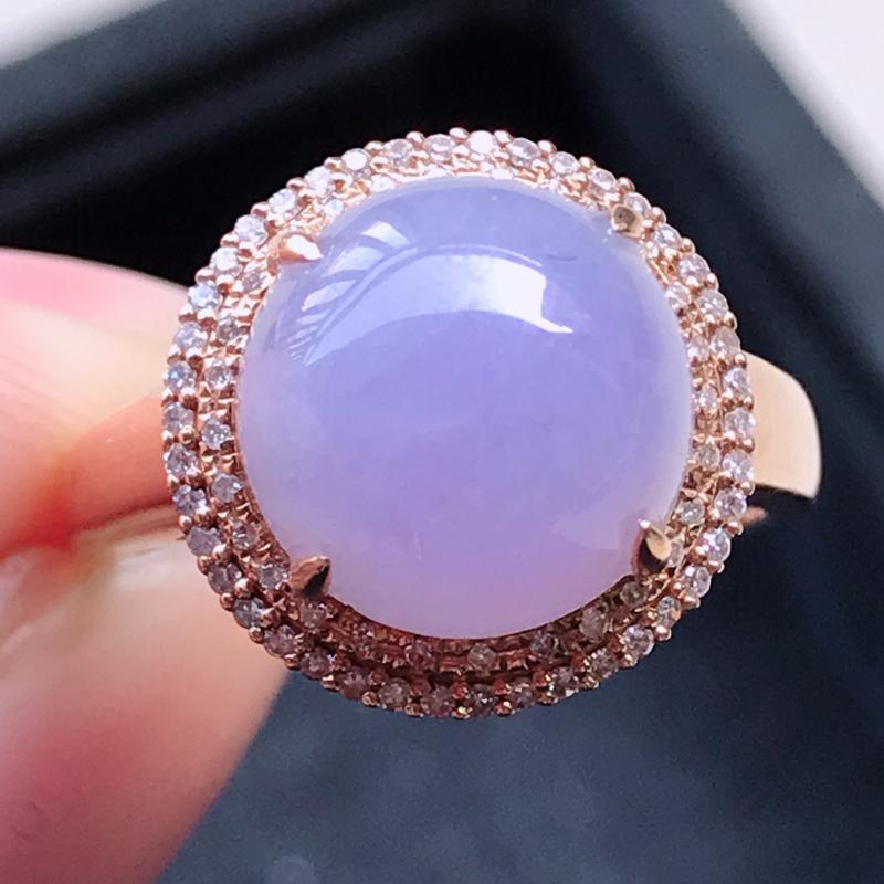 1119,18k精雕完美好种紫罗兰戒指,裸石尺寸
