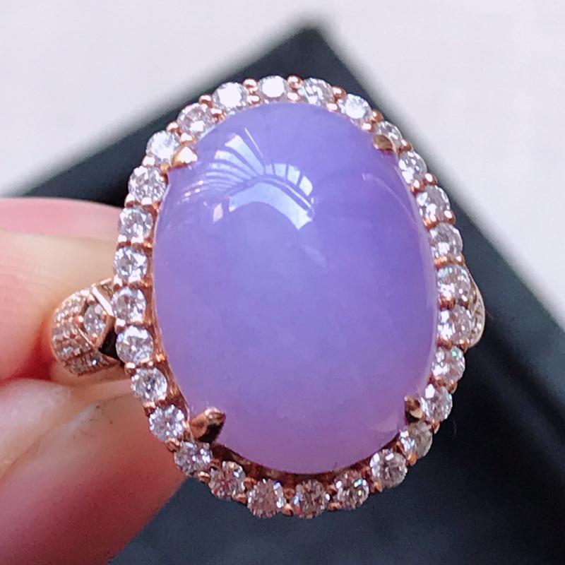 1121,18k精雕完美好种紫罗兰戒指,裸石尺寸