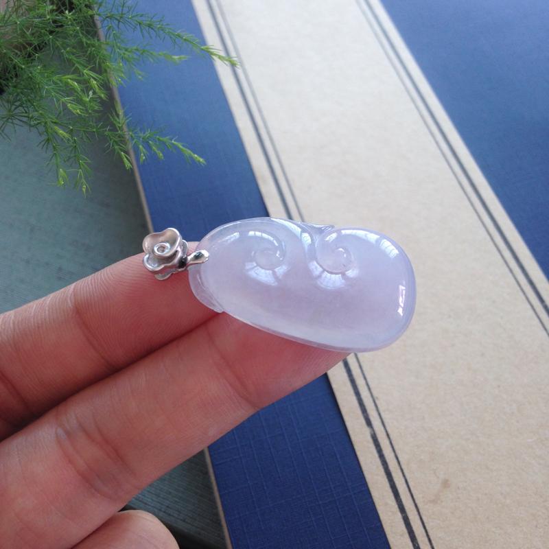 【冰紫如意,镶嵌18K扣头,仙气缭绕冰纯细腻】图11