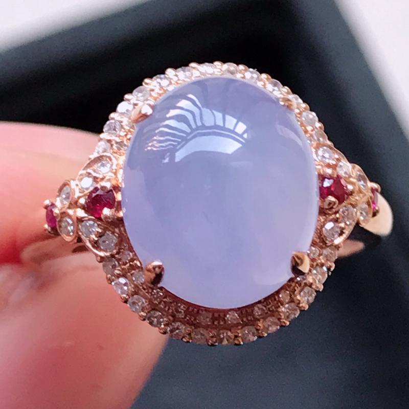 1122,18k精雕完美好种紫罗兰戒指,裸石尺寸