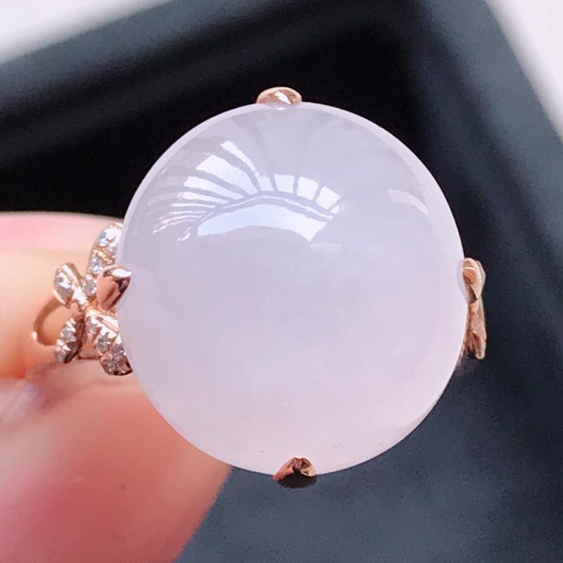 1122,18k精雕完美好种冰紫罗兰戒指,裸石尺寸