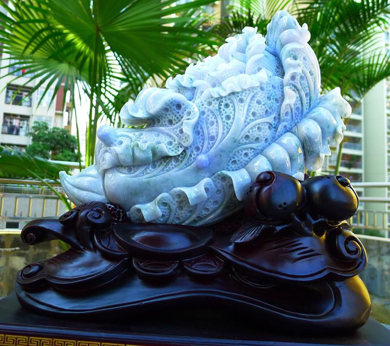 大件 白菜摆件  缅甸天然翡翠A货 精美 春带彩 紫罗兰 八方来财 财源广进 步步高升 升官发财 白