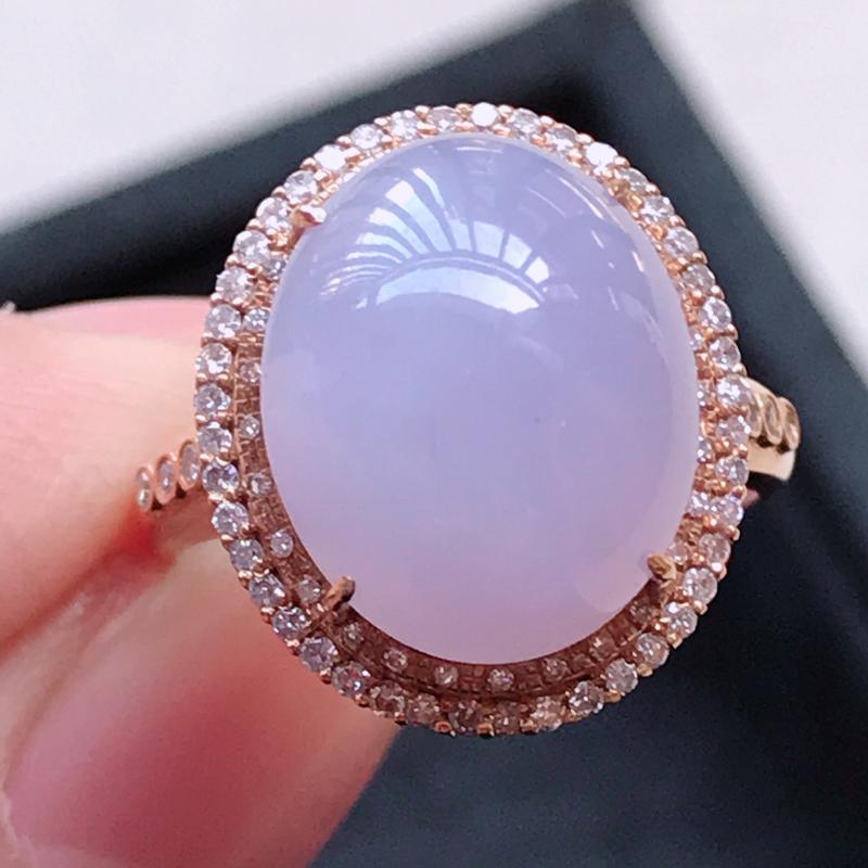 1130,18k精雕完美好种紫罗兰戒指,裸石尺寸 :13.5*10.8*4.5,镶金尺寸:17*14