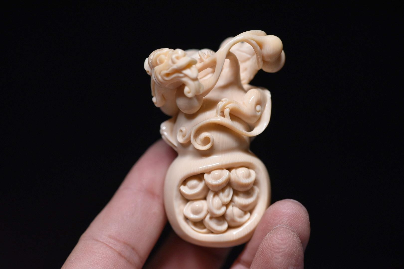 【福禄双全】大师 高度镂空雕刻,去料多✊ 纯手工雕刻工艺繁琐耗时长,满工雕琢