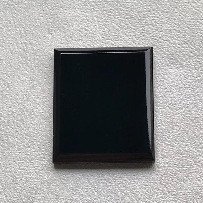 【墨翠【戒面】完美无裂纹,细腻干净,黑度极黑,性价比高,雕工精湛,打灯透绿】图3