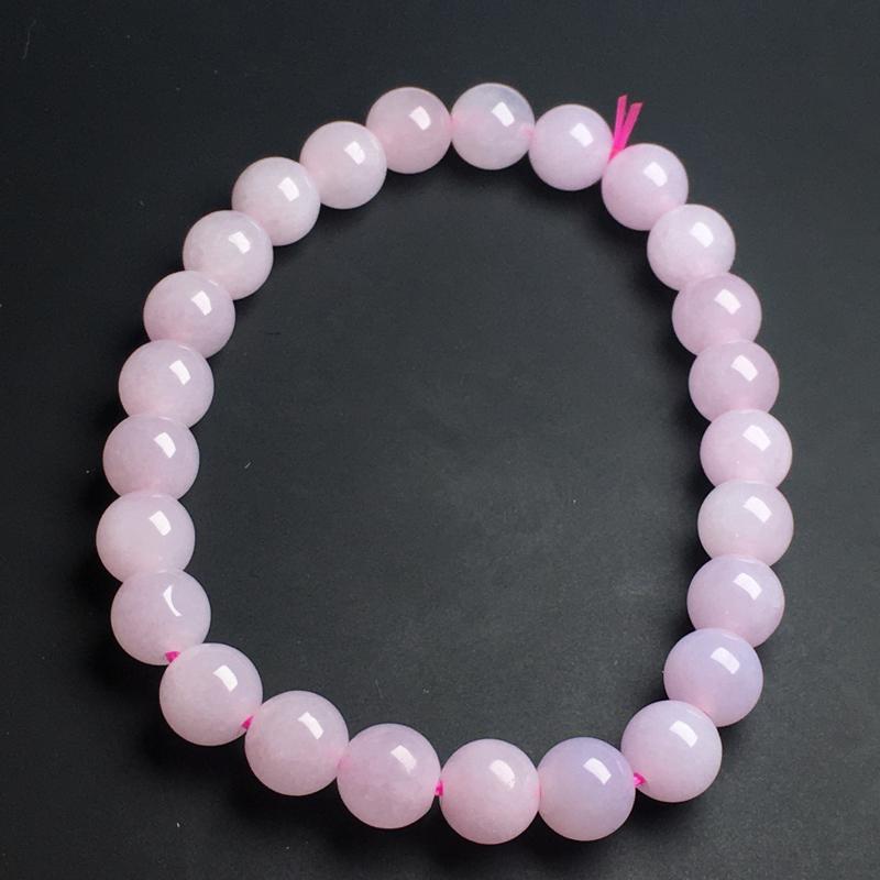 【【紫罗兰手链】色泽艳丽  玉质细腻  饱满圆润  款式精美  直径7毫米】图6