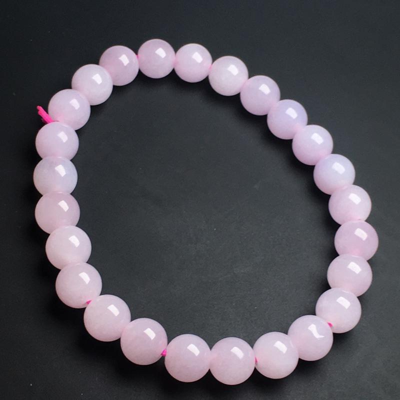 【紫罗兰手链】色泽艳丽  玉质细腻  饱满圆润  款式精美  直径7毫米
