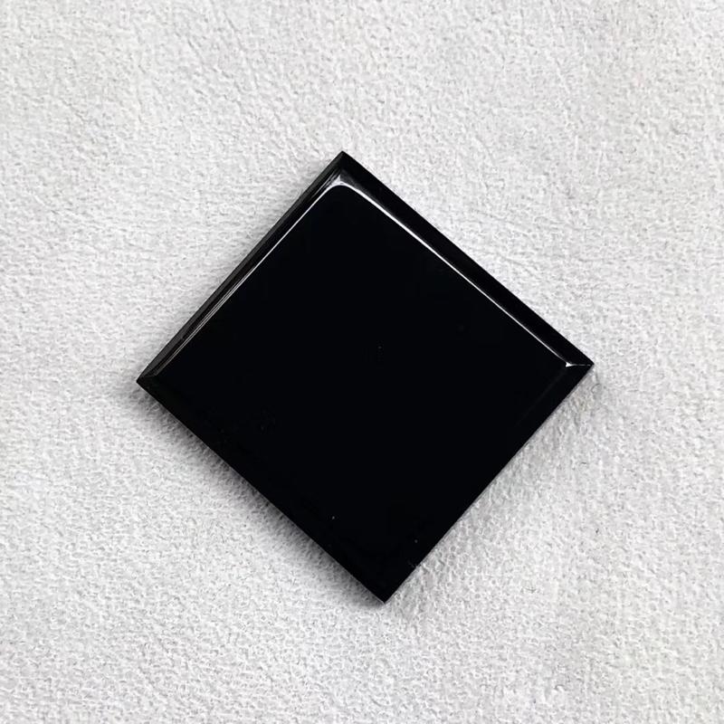 【墨翠【戒面】完美无裂纹,细腻干净,黑度极黑,性价比高,雕工精湛,打灯透绿】图4