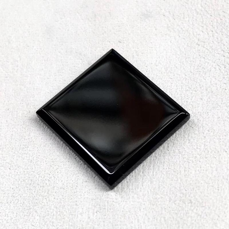 【墨翠【戒面】完美无裂纹,细腻干净,黑度极黑,性价比高,雕工精湛,打灯透绿】图5