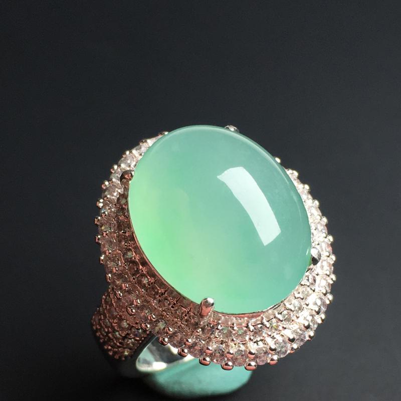 【蛋面】铜托  冰透水润  底色漂亮  饱满厚实  品相佳  裸石20-16-8毫米