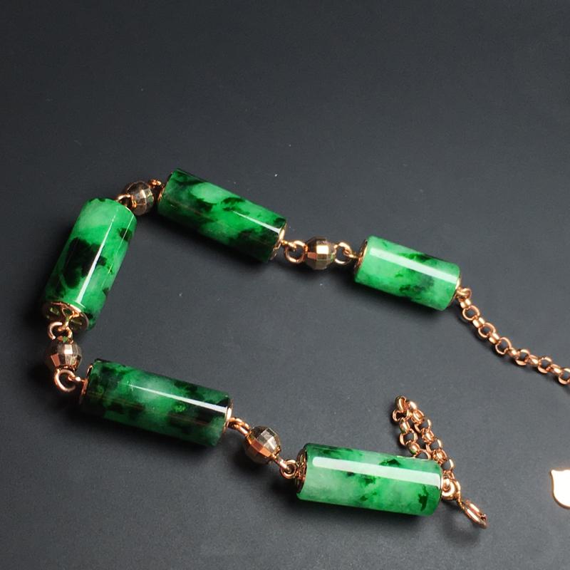 【满色手链】色泽艳丽  玉质细腻  款式精美  尺寸15-6毫米