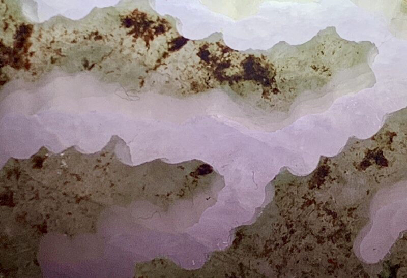 #矿区直销  一手货源# 【名称】1.87公斤会卡场口开窗料紫罗兰。 【重量】1.87公斤,尺寸】120*120*70mm 【产地】缅甸翡翠原石 【描述】会卡场口开窗,料子种老,肉质细腻,大面积开窗,肉质化开机会大,带春感,飘色花,出货稳,直接取件。082##**