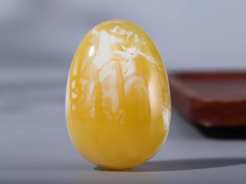 【物美价廉】*纯天然原矿高品质鸡油黄妖孽意境白花水滴