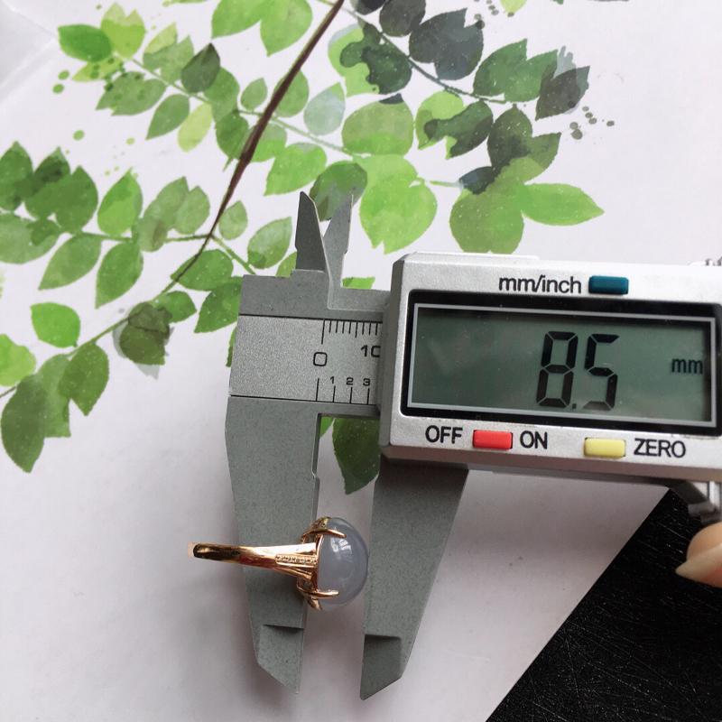 【紫罗兰18k金伴钻福气戒指//天然翡翠A货,配证书[玫瑰]包金厚度8.5mm】图7