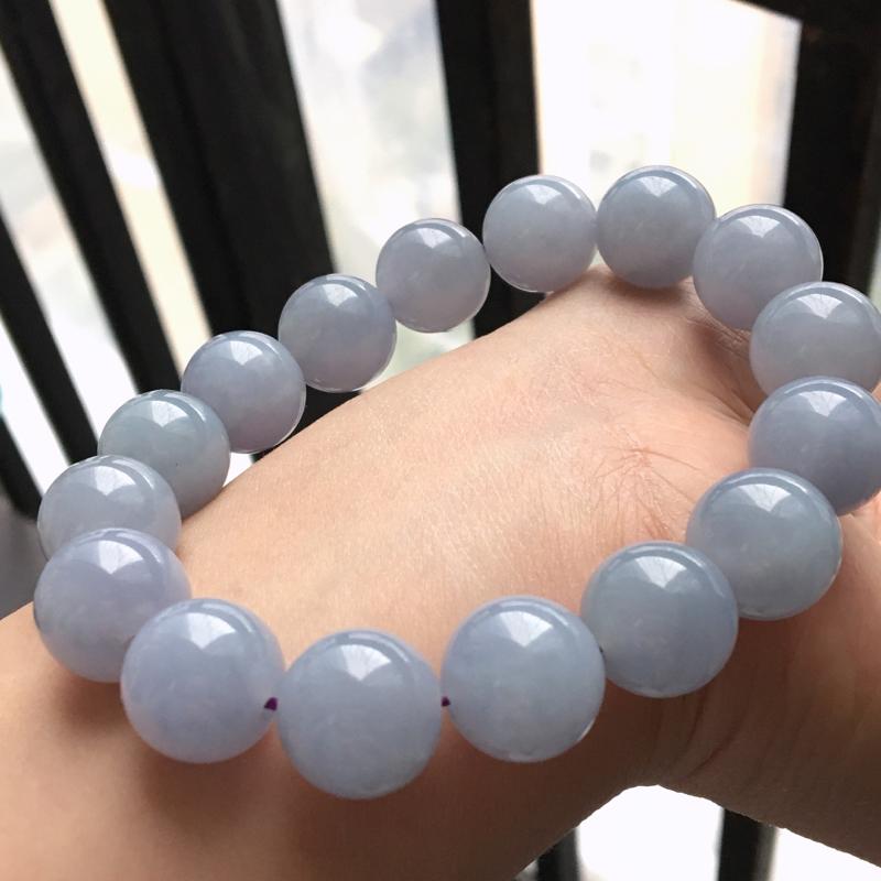 【原价6300】*缅甸翡翠A货满紫色手链,有种有色,紫色好优雅,实物水头更好,13.7mm